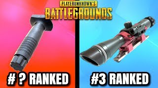 EVERY ATTACHMENT IN PUBG RANKED WORST TO BEST! - PlayerUnknownsBattlegrounds