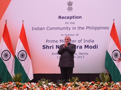 PM Narendra Modi Addresses The Indian Community in Philippines