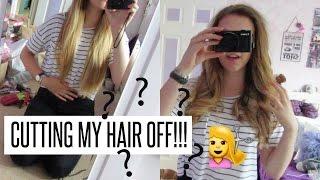 VLOG: CUTTING MY HAIR OFF!!!