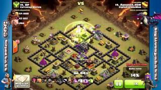 Ataque Híbrido Th9 | Montapuercos , Golems y Brujas | Clash of Clans