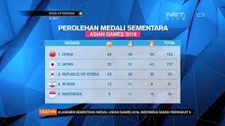 Perolehan Sementara Medali Asian Games 2018