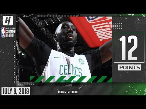 Tacko Fall Full Highlights Cetlics vs Cavaliers (2019.07.08) Summer League - 12 Points!