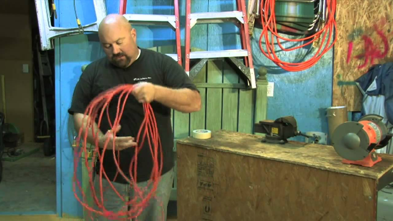 Extension cords on coils 13