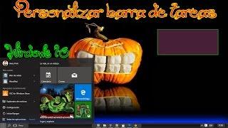 Personalizar barra de tareas en Windows 10