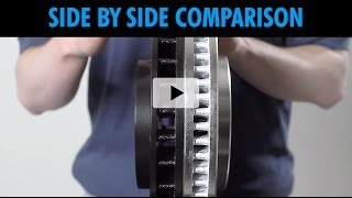 Side by Side Comparison Performance Rotors from Brake Motive versus other sellers on Ebay