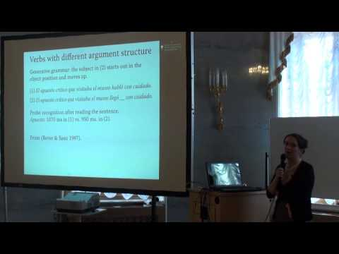 Psycho- and neurolinguistic studies of syntax, part 1