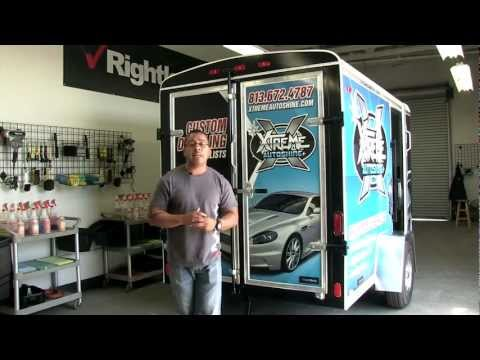 9800 Mobile Auto Detailing Trailer  with Rightlook's Daniel Baza
