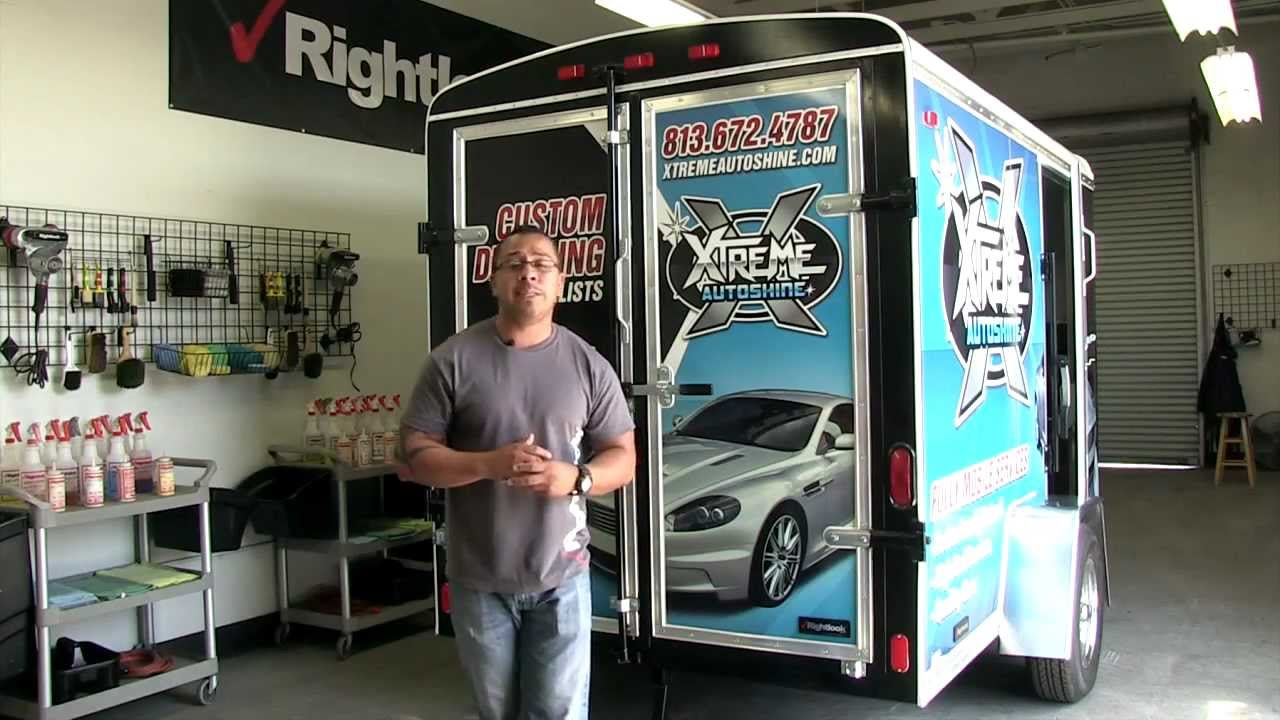 9800 Mobile Auto Detailing Trailer With Rightlooks Daniel