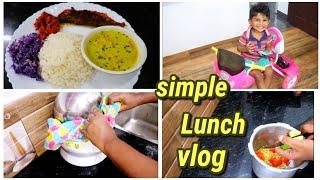 ആർക്കും ഉണ്ടാക്കാവുന്ന ഒരു simple lunch||vendakka fry||cabbege thoran||veg curry||fish fry||vlog||