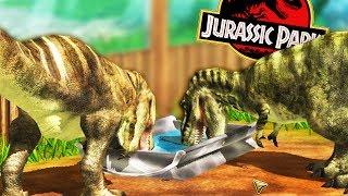 BABY TREX PEN, JURASSIC PARK JEEP TOUR - Wildlife Park 3 Gameplay