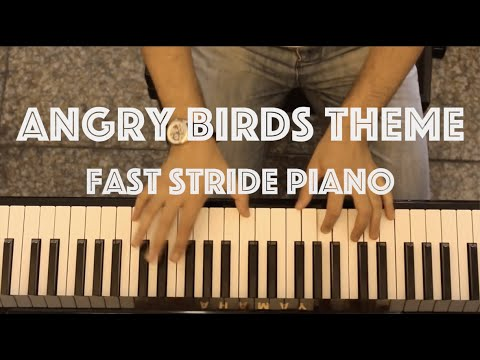 Angry Birds Theme - Fast Jazz Stride Piano Cover
