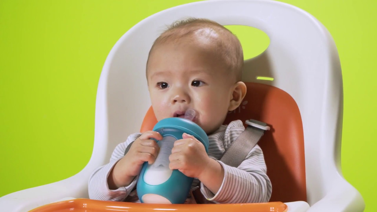 Boon NURSH Silicone Pouch Bottles and Feeding Accessories - YouTube