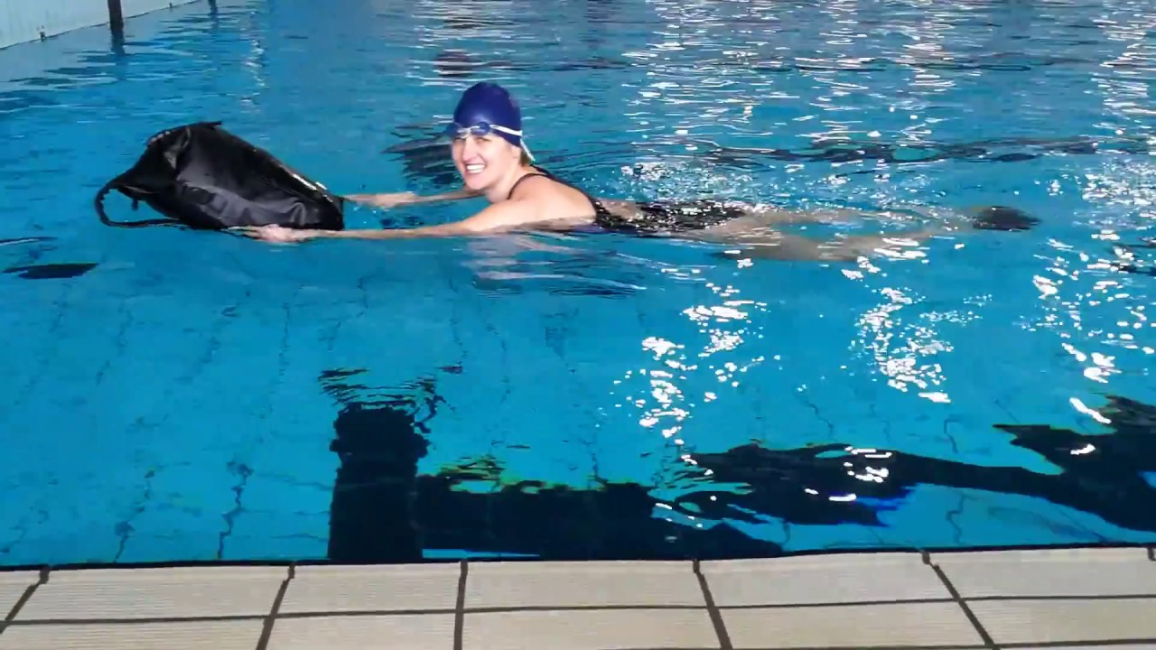 The Riviera I World s Best Waterproof Backpack - Test Swimming n2 ... 1e98aae38b