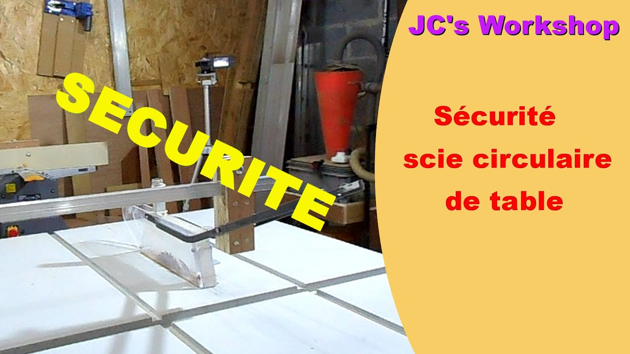 comment faire une protection de lame de scie circulaire de table travail du bois 23 youtube. Black Bedroom Furniture Sets. Home Design Ideas