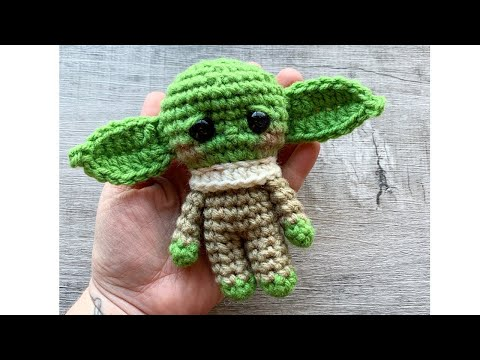 Quick and easy crochet tutorial: baby Yoda