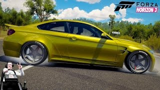 BMW M4 на стиле - Forza Horizon 3 на руле Fanatec CSL Elite Wheel