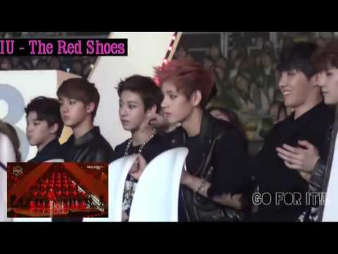 BTS reaction to IU the red shoes