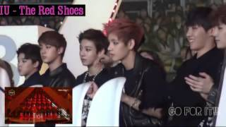 Download lagu BTS reaction to IU the red shoes