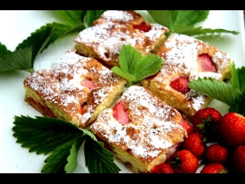 Brzi kolač sa jagodama - Video - Strawberry Cake Recipe