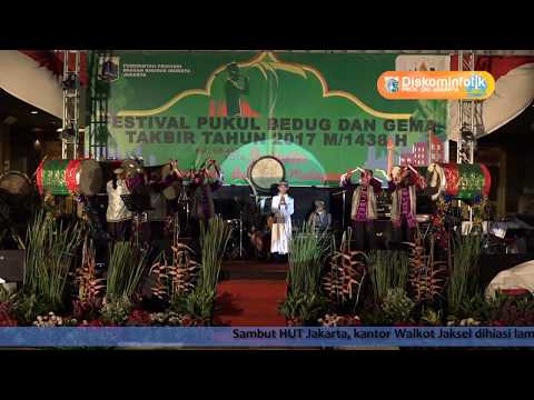 24 Juni 2017 Gub Djarot S. Hidayat Membuka Malam Final Festival Pukul Bedug 2017