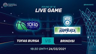 Tofas Bursa v Happy Casa Brindisi - Fulll Game | @Basketball Champions League