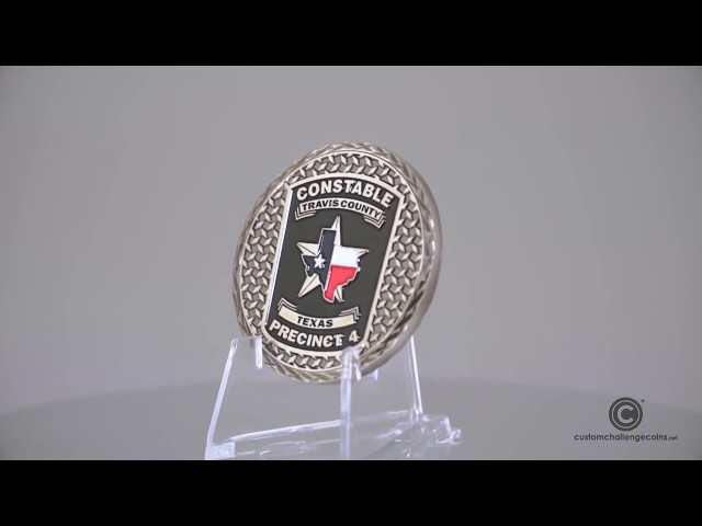 Custom Challenge Coins - Travis County Constable