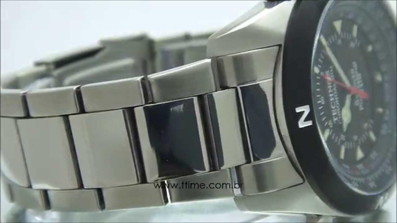Relógio Technos Skydiver Professional T20560 1P - YouTube 7c39054f44