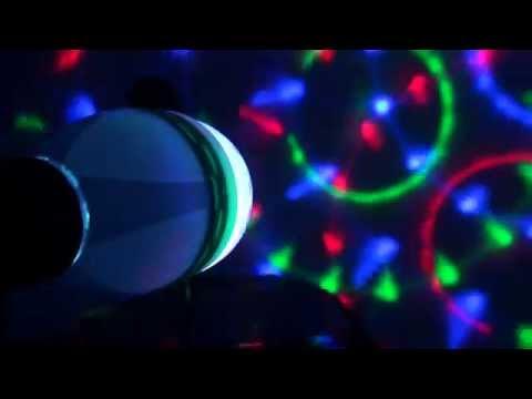 3W E27 Full Color RGB LED Auto Rotating Lamp Crystal Stage DJ Party Light Bulb 85-260V
