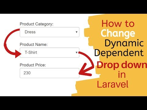 Laravel (5.3-5.8,6) Multi Dynamic Drop Down Change  From Database With Ajax