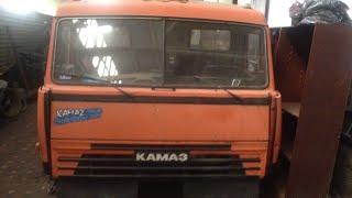 Обзор евро кабины КАМАЗ с разборки .Трансформация тягача в самосвал .