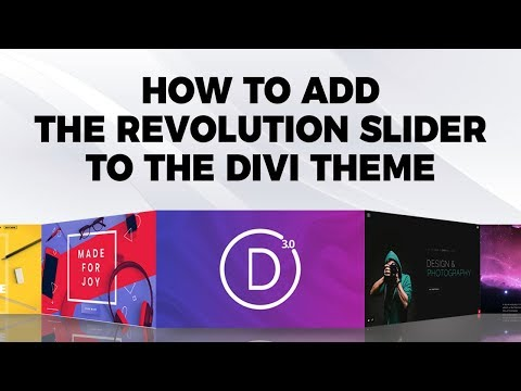 How To Add The Revolution Slider To The Divi Theme
