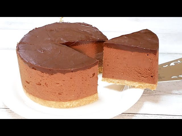 生チョコチーズケーキ(ゼラチン無し)混ぜて冷やすだけのバレンタインチョコNo-Bake Chocolate Cheesecake Recipe (Without Gelatin)