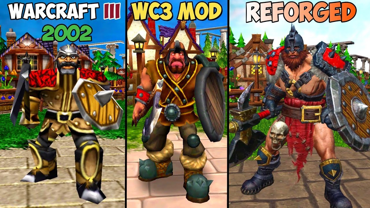 Warcraft III Reforged: Neutral Units (Bandits+OOZEX+Kobold+Wizzard) Part 4 Comparison (2002 VS 2020)