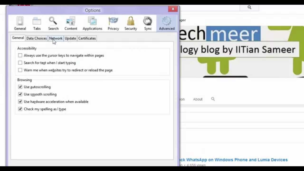 How To Clear Cache In Mozilla Firefox #30sectutorials