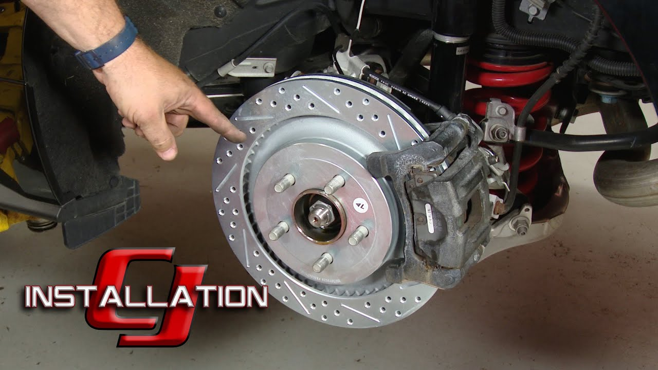 2015 2019 mustang performance pack ecoboost gt baer rear brake rotor 13 sport pair installation [ 1280 x 720 Pixel ]