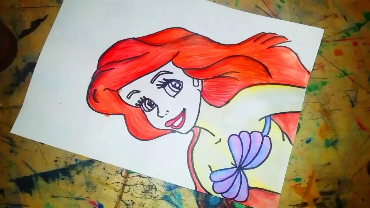Deniz Kızı Ariel Nasıl çizilir Kolay çizimler Kolay Resim
