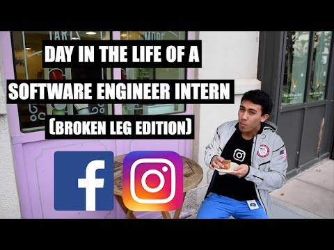 A Day In The Life Of A Software Engineer Intern At Instagram/Facebook (Broken Leg Edition)
