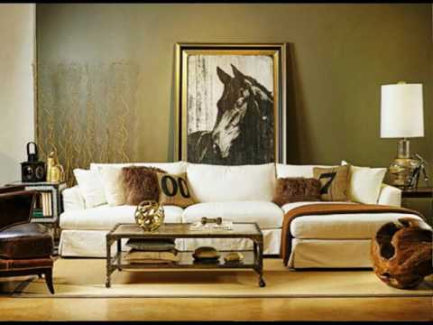 Olive Green Walls Living Room - YouTube