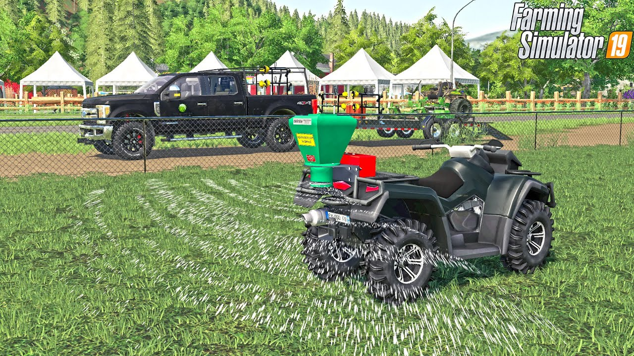 BOUGHT FOUR-WHEELER FOR BUSINESS | FERTILIZER SPREADER | FARMING SIMULATOR 2019 thumbnail