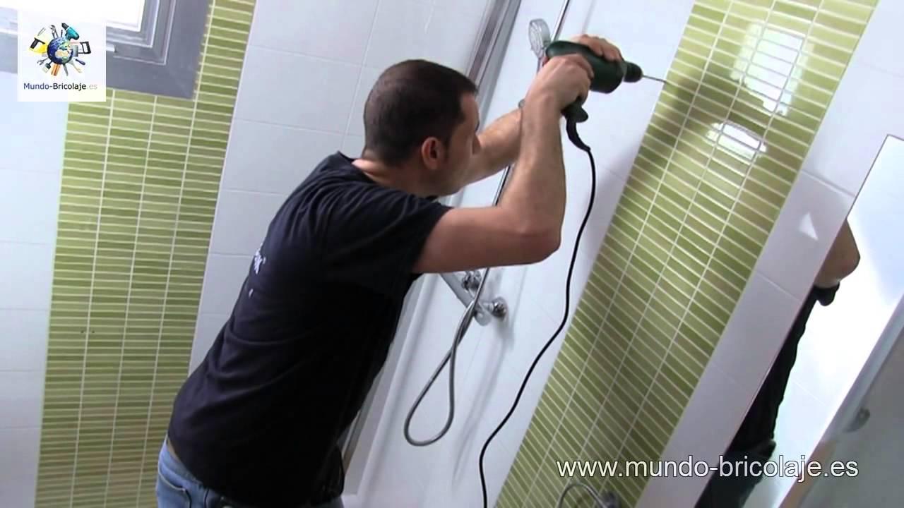 Como instalar una mampara ba o con dos puertas correderas - Como colocar una mampara de bano ...
