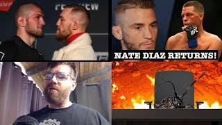 Nate Diaz vs Dustin Poirier, Conor vs Khabib, Live stream press conference in 1 hour!
