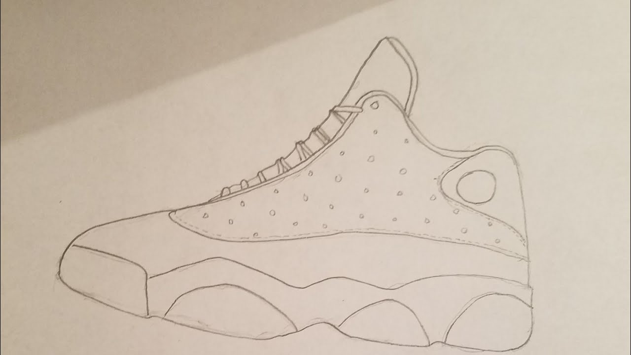 half off e925c 67584 How To Draw The Jordan 13 Hyperlapse