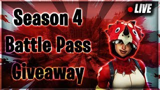 Fortnite Battle Royale Season 4 Battle pass & V-Buck Giveaway 760+ Wins 18k Kills 8 K/D