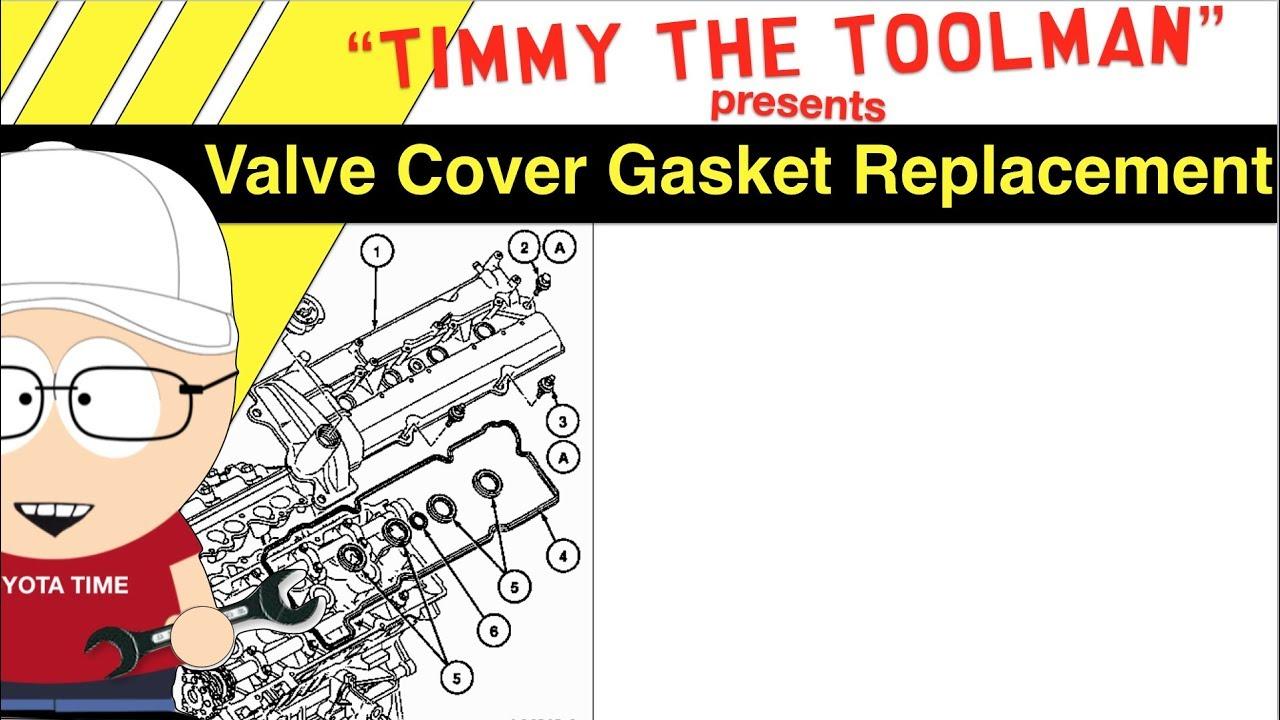 hight resolution of 3 4 l v6 5vz fe toyota 4runner tacoma tundra valve cover gasket tutorial