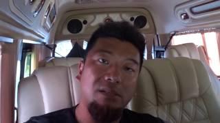 アキーラさん利用①タイ・プーケット・パトンビーチ⇒ラッサダー埠頭行きミニバン!Taxi from the Patong beach to Ratsada pier in Phuket,Thailand