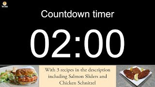2 minute Countdown timer with alarm (including 3 recipes)