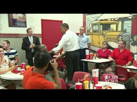 Obama surprises diner,