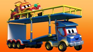 Truck videos for kids -  CHINESE NEW YEAR : The DRAGON is in TROUBLE at the PARADE - Super Truck ...