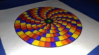 circle easy shading draw pattern