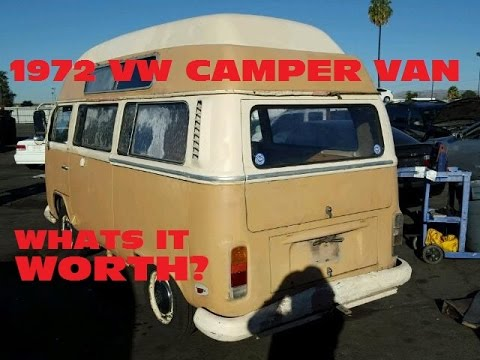 1972 Volkswagen Camper Van For Sale at Auction. WHATS IT WORTH???